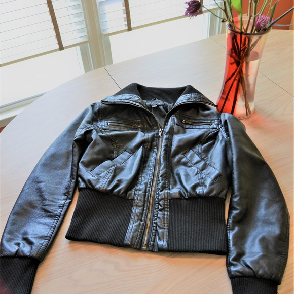 eaaef8209 Ambiance Apparel Faux Leather Jacket